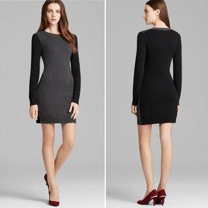 Theory Petite Jiya gray black lofty cashmere dress